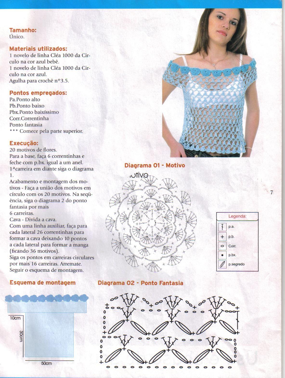 blusas tejidas a crochet paso a paso - Buscar con Google | Clothes ...