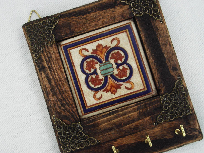 Rustic Key Rack Decorative Wooden rack Necklace by RegalosRusticos