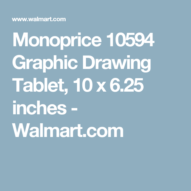 monoprice 10594 graphic drawing tablet 10 x 6 25 inches walmart