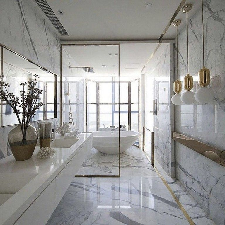 45 Amazing Luxury Apartment Bathroom Design Decoration Ideas Https Concettadecor Info 4 Glamorous Bathroom Apartment Bathroom Design Bathroom Design Luxury
