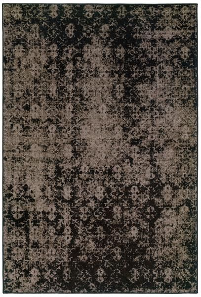 Black And Gray Worn Overdyed Style Rug Synthetic Rugs Area Rugs