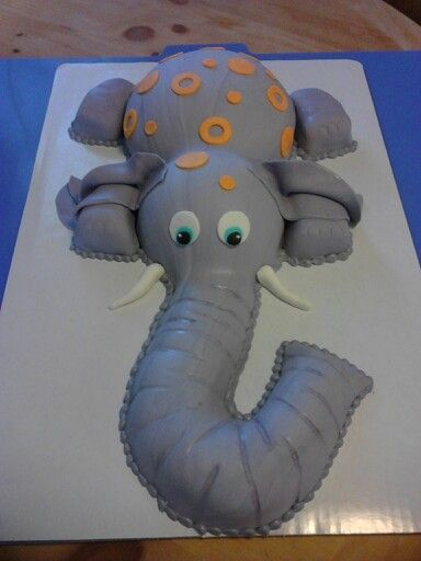 Elephant baby shower cake me and me sister in law made.