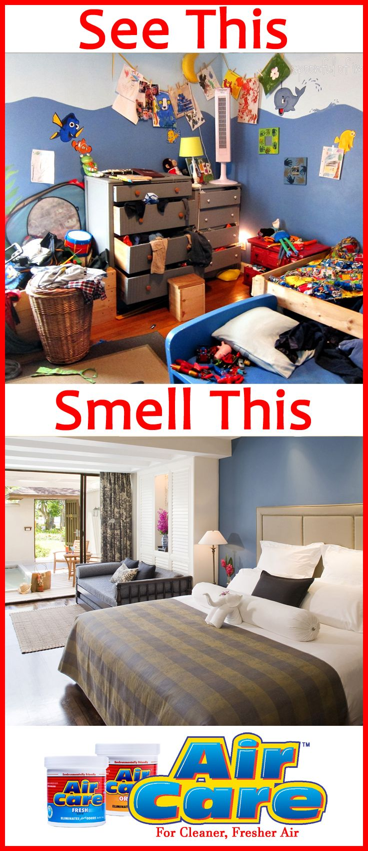 Smell fresher, cleaner air not a mess! Place an AirCare 1
