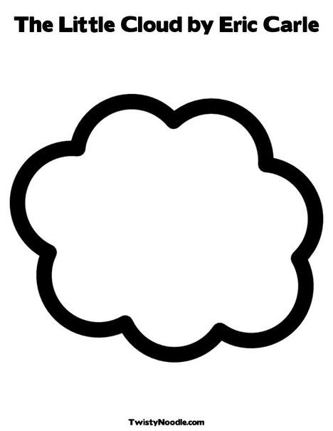 The Little Cloud by Eric Carle Coloring Page from
