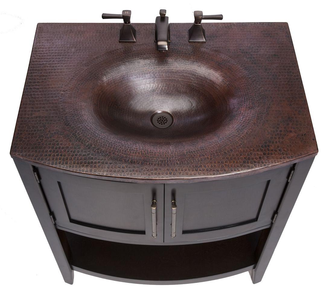 Copper Bathroom Vanity: One Of Our Beautiful Vanities