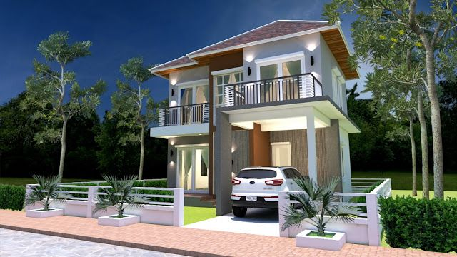 Sketchup House Plan 8x11m 4 Story Plan with 5 Bedroom ...