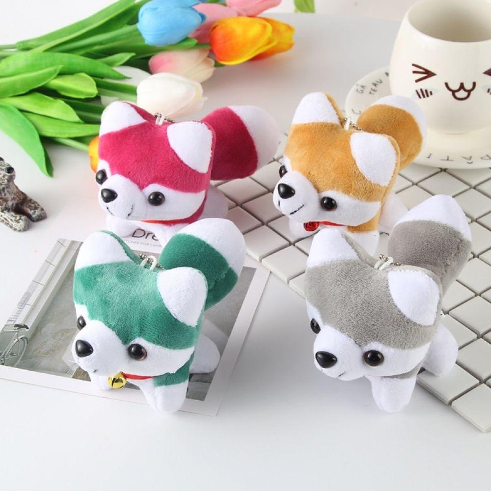 Cute husky dog kawaii plush keychains bag mobile phone