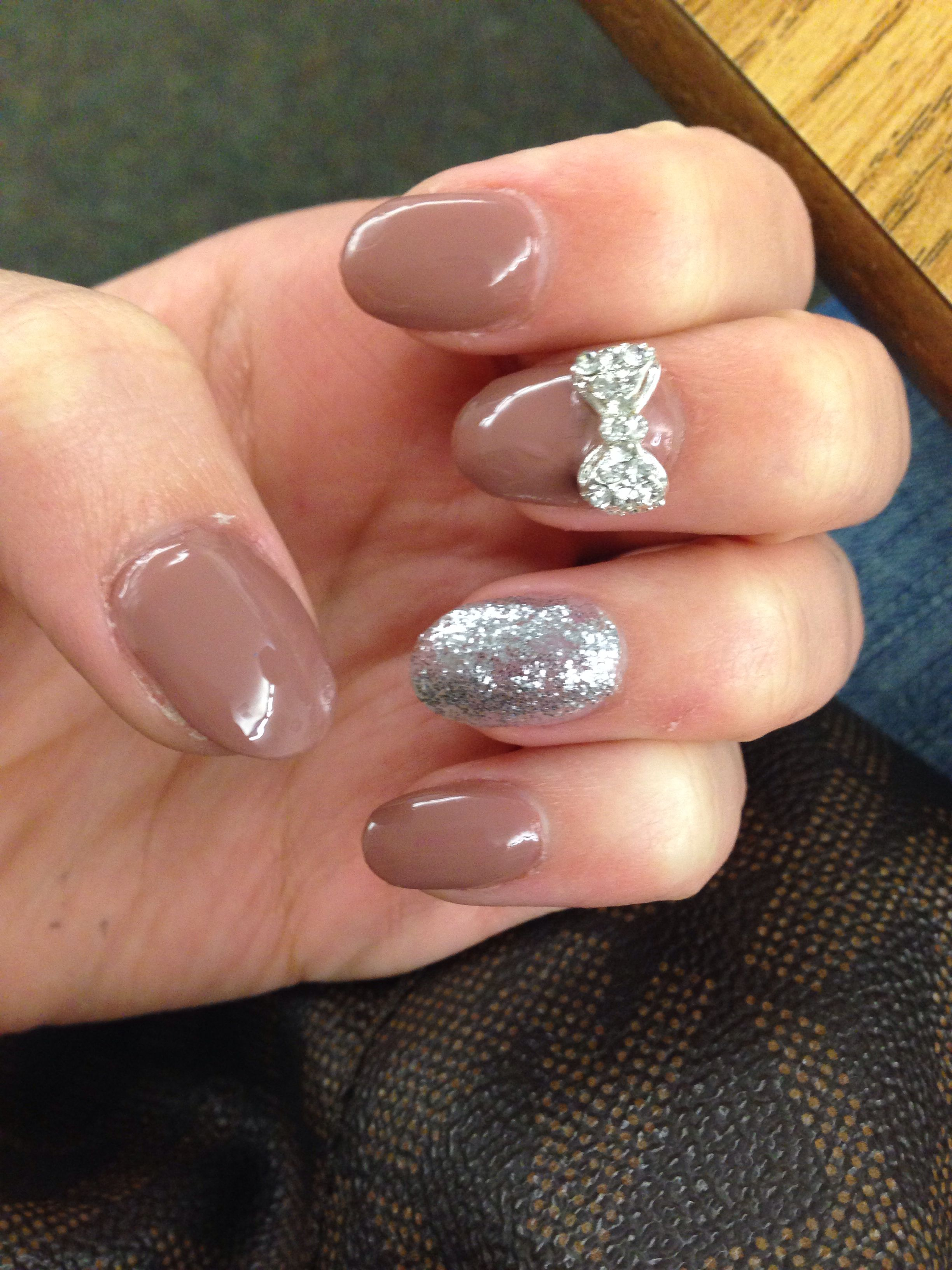 Ombre French Stiletto Nails With 3d Bow Nails French Stiletto Nails Ombre French