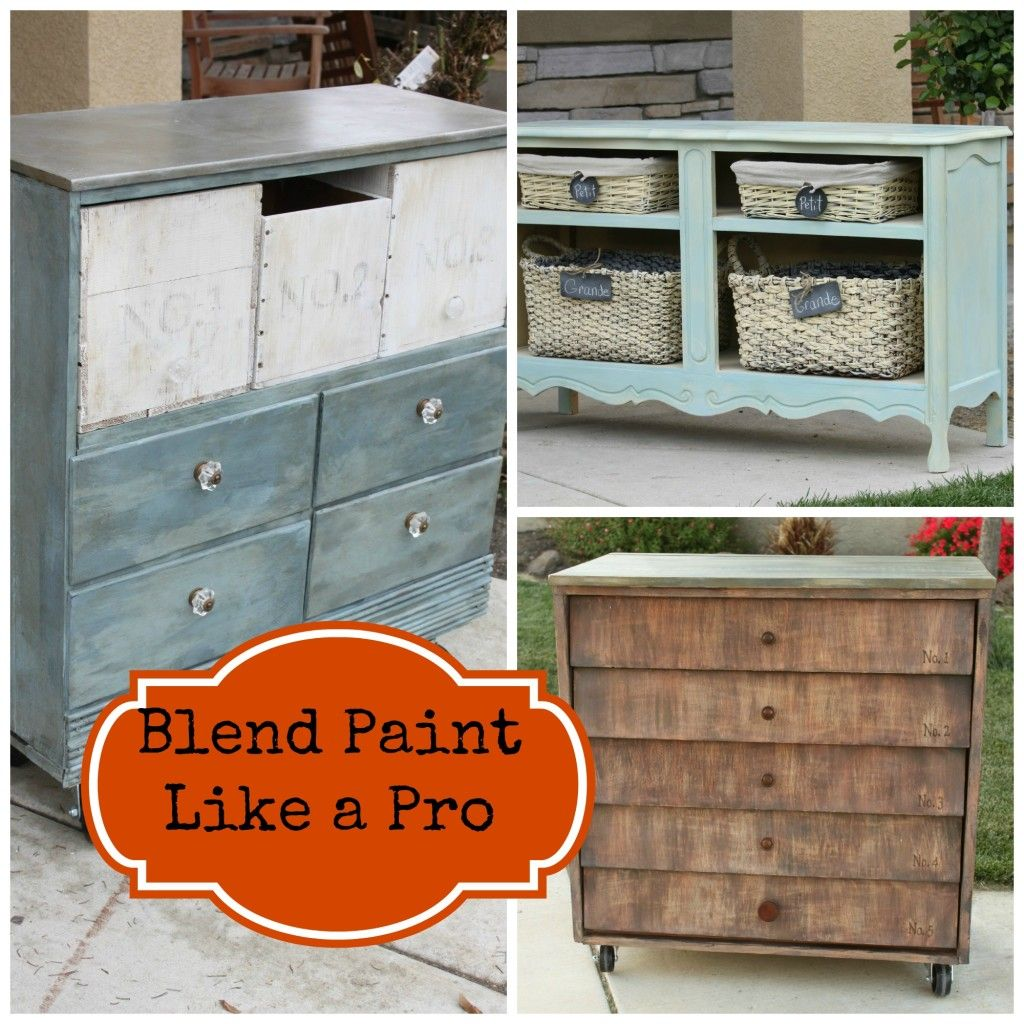 Blending Paint Like a Pro #furnitureredos