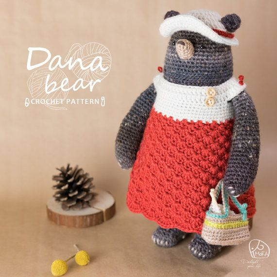 Crochet Doll Pattern_Dana Bear doll / Version_Round / MoRA made ...