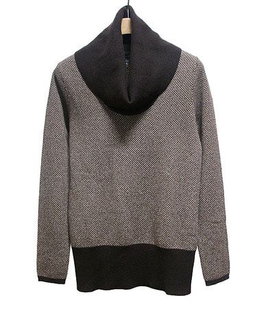 Look at this #zulilyfind! Dark Brown & Tan Herringbone Cashmere ...