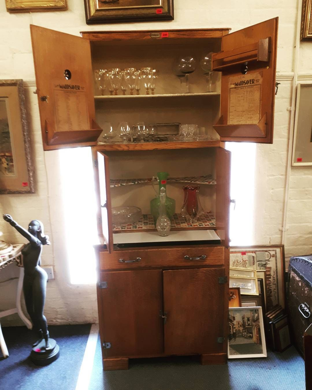 This vintage kitchen cabinet sold today for we are now