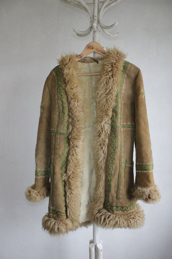 Womans sheep fur coat embroidered Lambskinj jacket womans Afghan ...