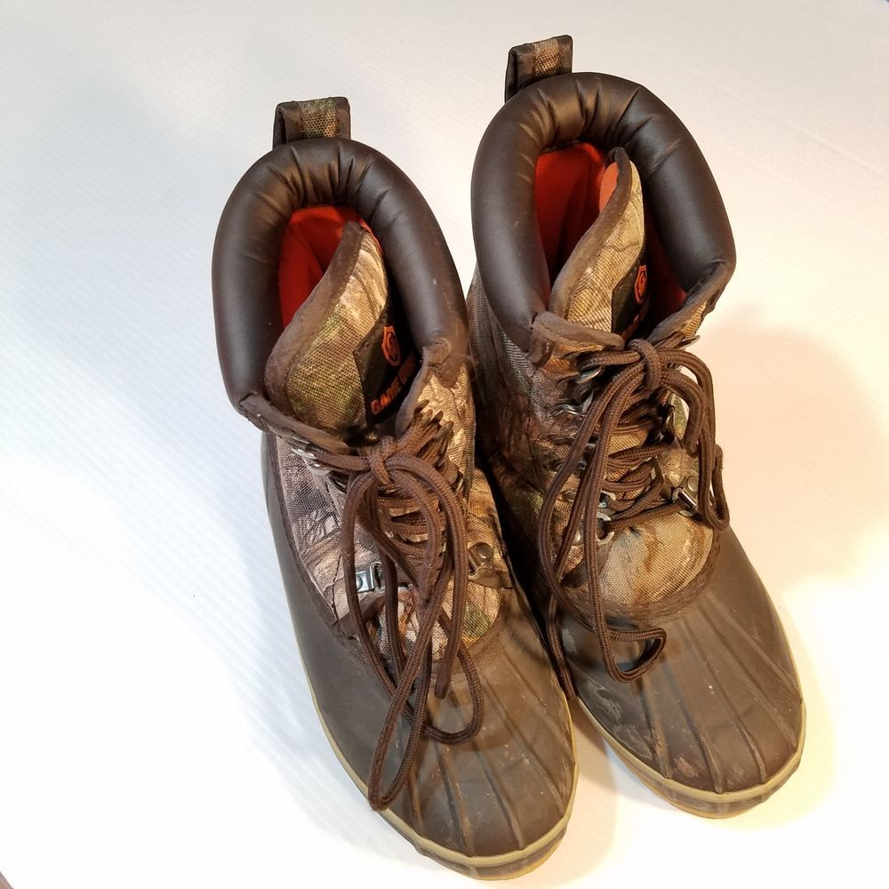 Game Winner® Men Duck Hunting Boots Shoe Size 8 RealTree