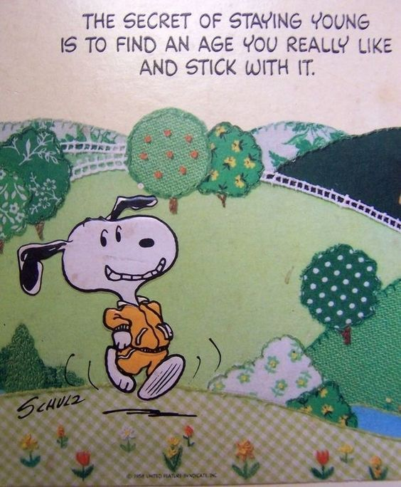 The Secret Of Staying Young Quotes Quote Snoopy Lol Funny Quote Funny Quotes Age Snoopy Snoopy Quotes Charlie Brown And Snoopy