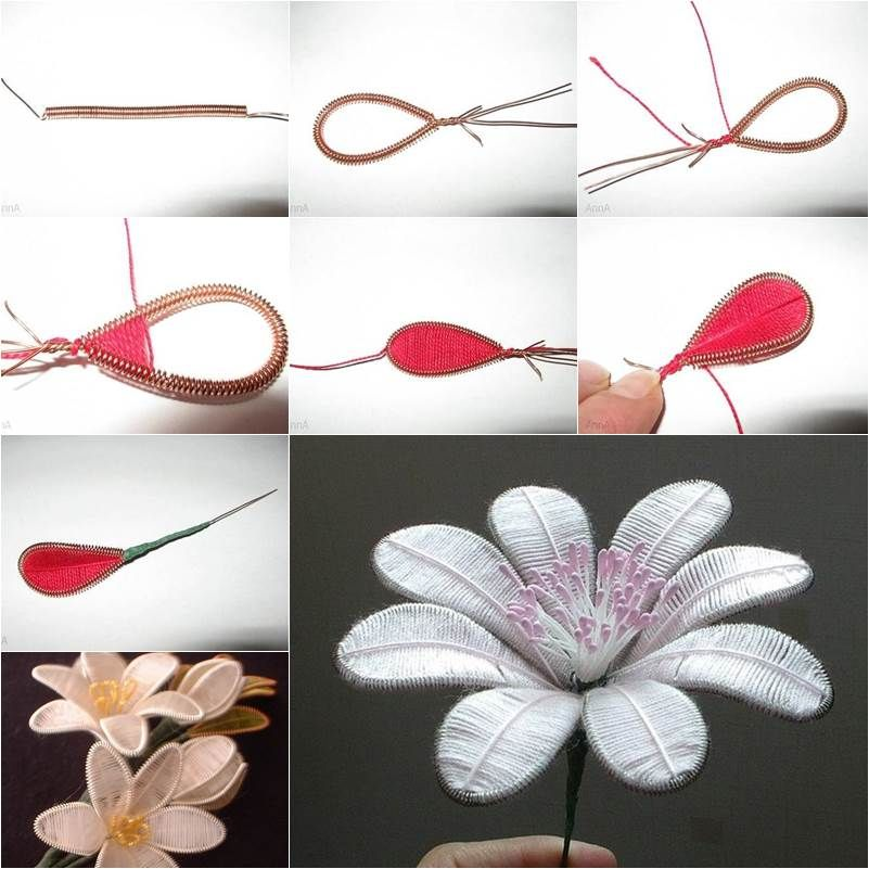 How to DIY Beautiful Flowers from Wire and Thread | Beautiful ...