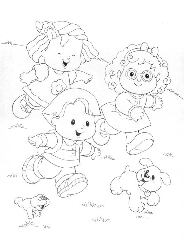 Little people coloring pages | Para Colorear | Pinterest | People