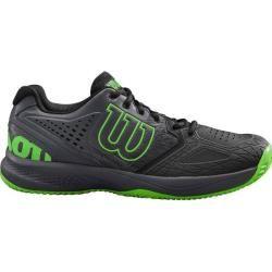 ¿Zapatillas de tenis para exteriores Wilson Kaos Comp 2.0 talla 44 para hombre? En gecko negro / ébano / verde, talla 44? Yo