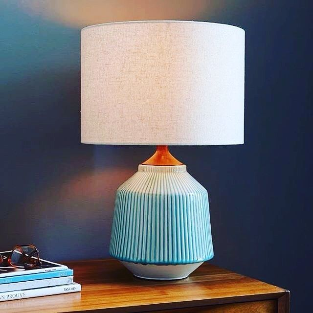 There\u0027s something very appealing about this ceramic looking l& base with it\u0027s cool and calm colours & There\u0027s something very appealing about this ceramic looking lamp ...