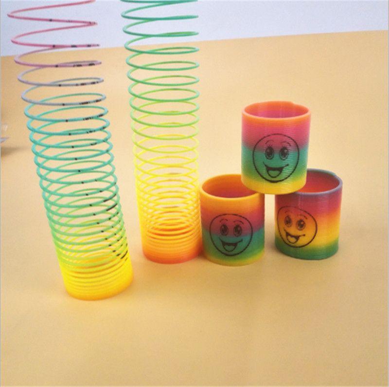 Magie Kunststoff Slinky Regenbogen Frühling Bunte Neue Kinder ...
