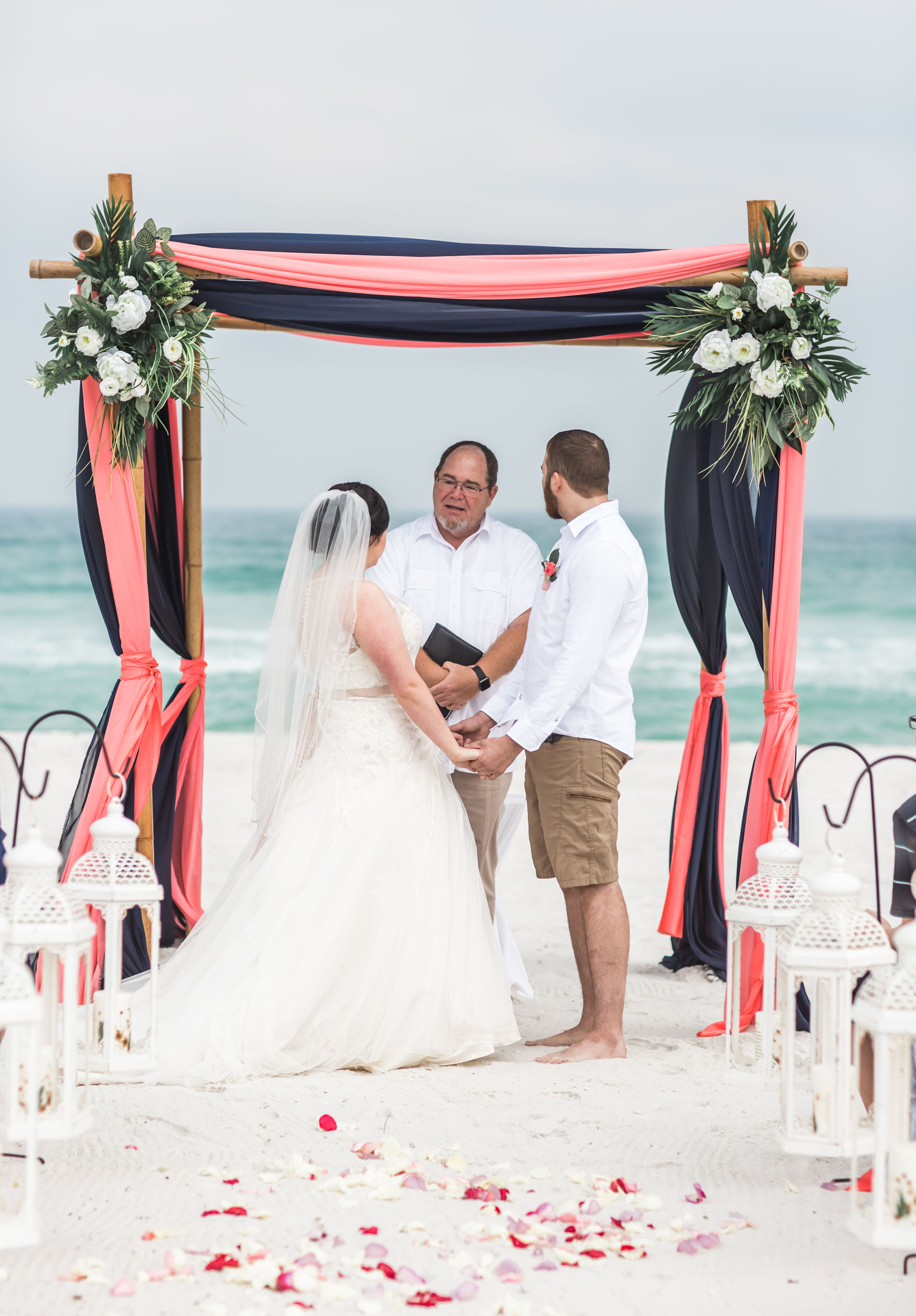 Wedding Arch Colors Coral And Navy Beach Wedding Coral Coral