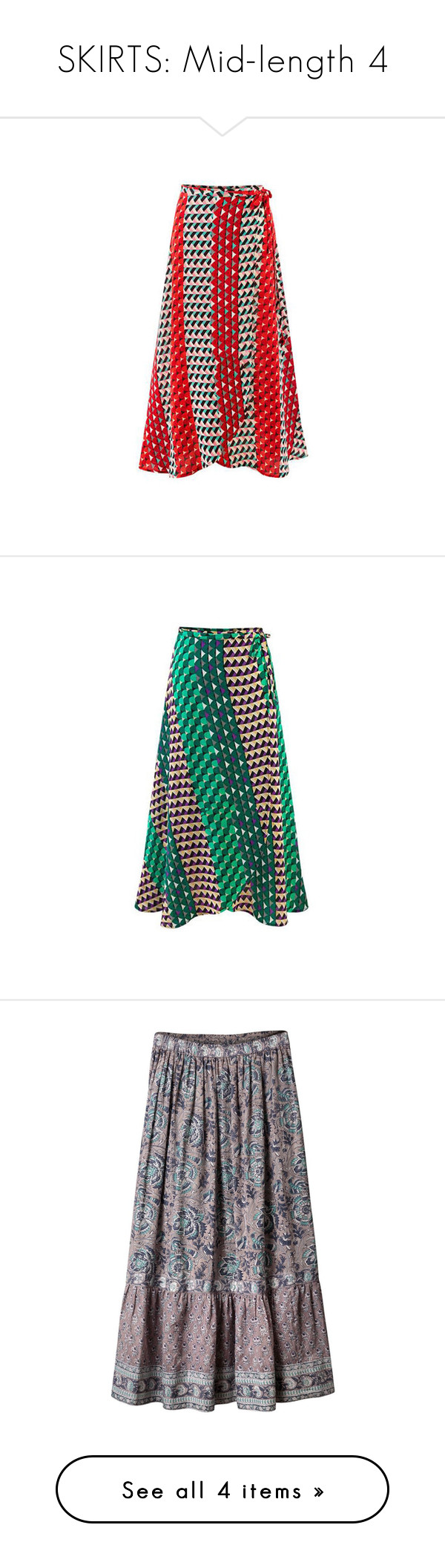 """SKIRTS: Mid-length 4"" by ravenlancaster ❤ liked on Polyvore featuring skirts, red, women bottoms skirts, boho maxi skirt, red skirt, bohemian maxi skirt, a line maxi skirt, red maxi skirt, green and green chiffon maxi skirt"