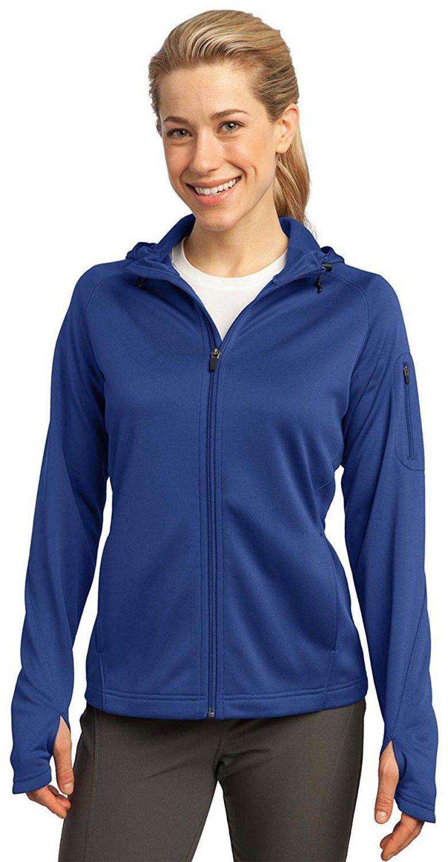 SportTek Women's Tech Fleece Full Zip Hooded