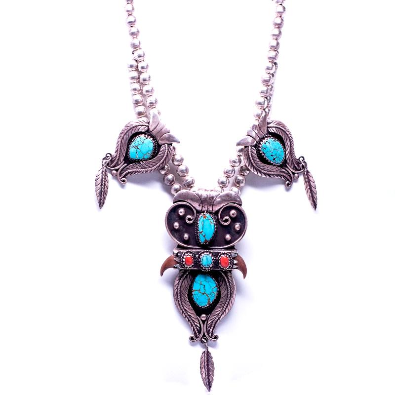 Boho Dancing Eagle Necklace