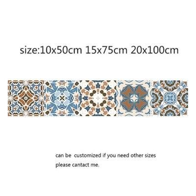 Photo of Arabic Style Mosaic Tile Stickers For Living Room Kitchen Retro 3D Waterproof Mural Decal Bathroom Decor DIY Adhesive Wallpaper – 11 / 15x75cm