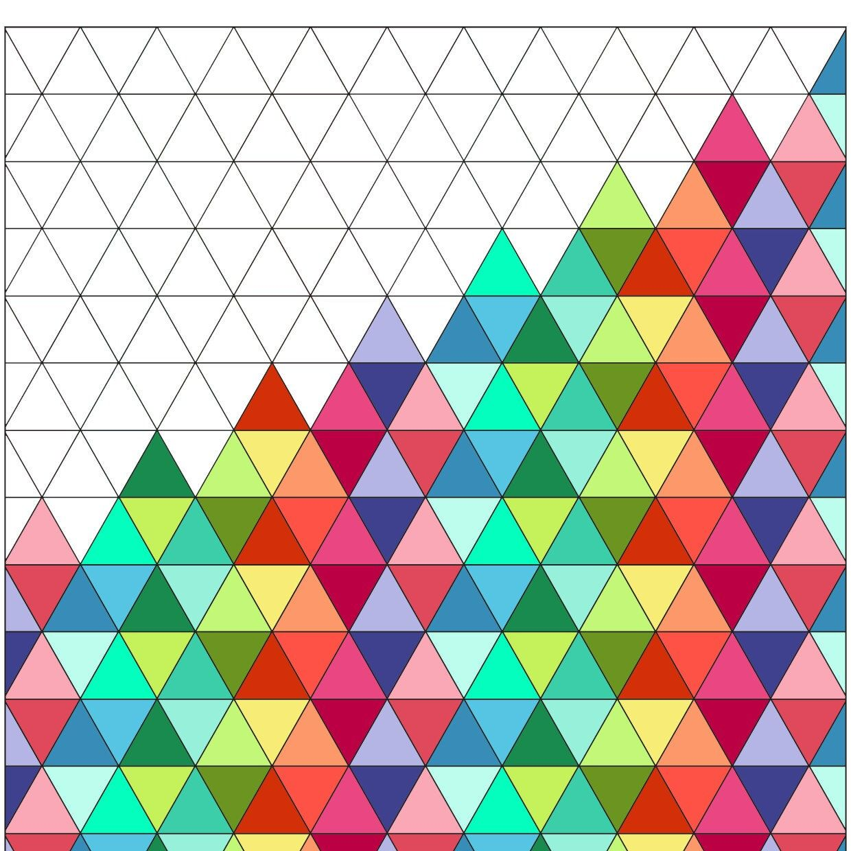 Printable Triangles Coloring Page, Triangles Shape Prints
