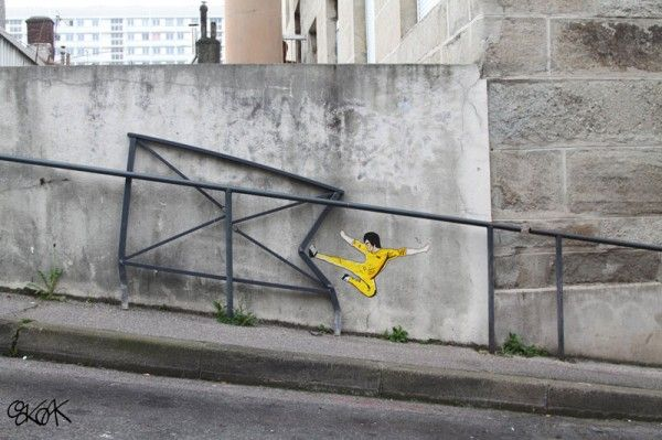 """French street artist """"Oak Oak"""". Definitely check out all of these cool pieces of street art!"""