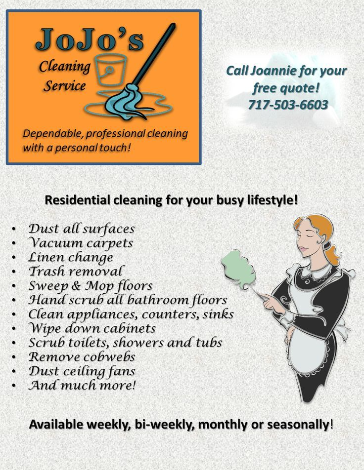 cleaning service on Pinterest | Cleaning Services, Flyers and ...
