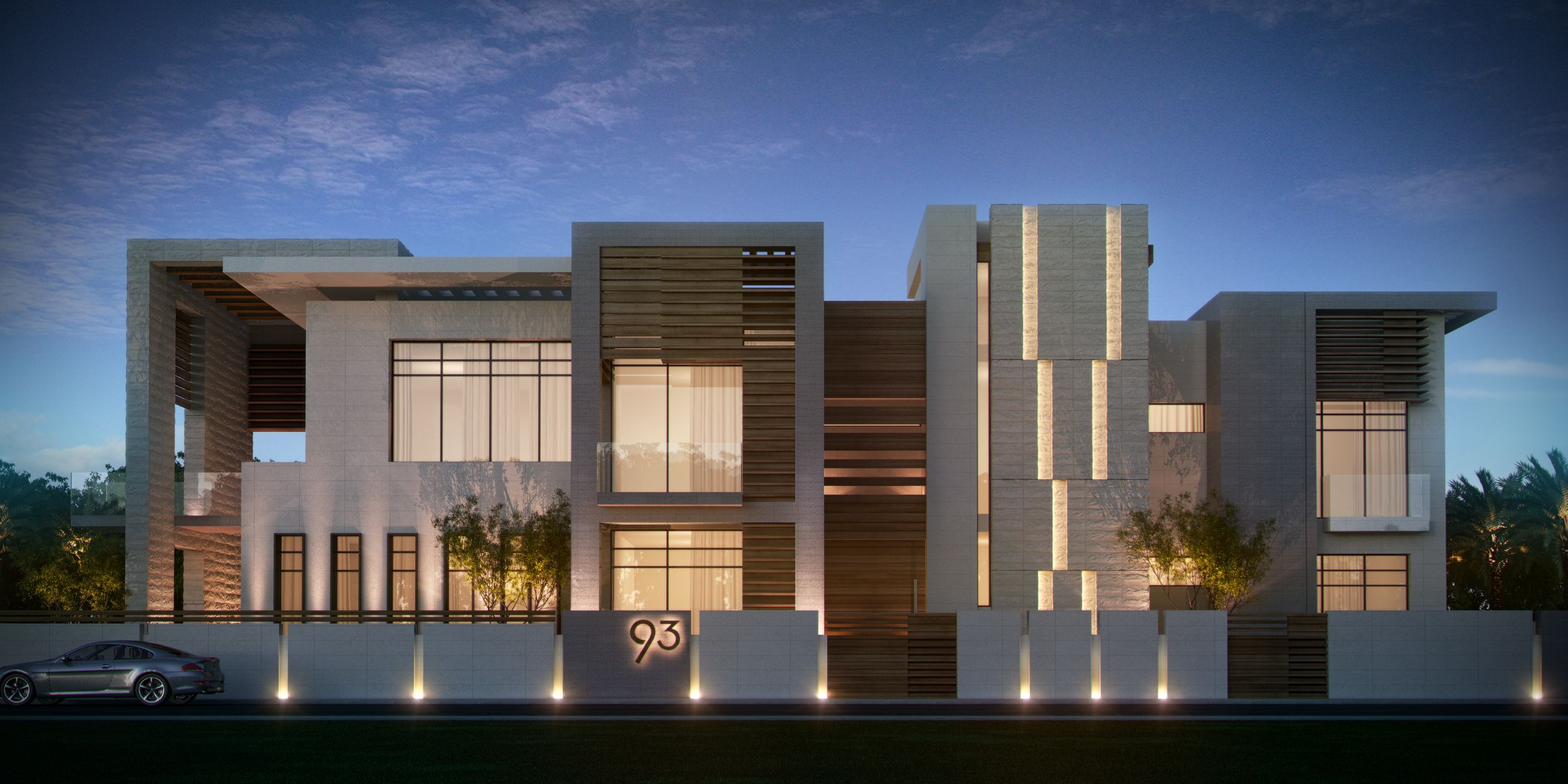 Minimal architecture islamic residential tried design for Villa architecture