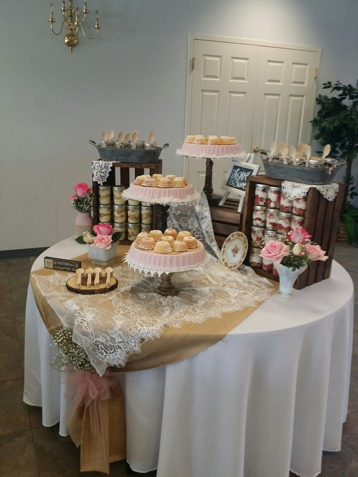 Dessert Table For Rehearsal Dinner Combined All The Wonderful