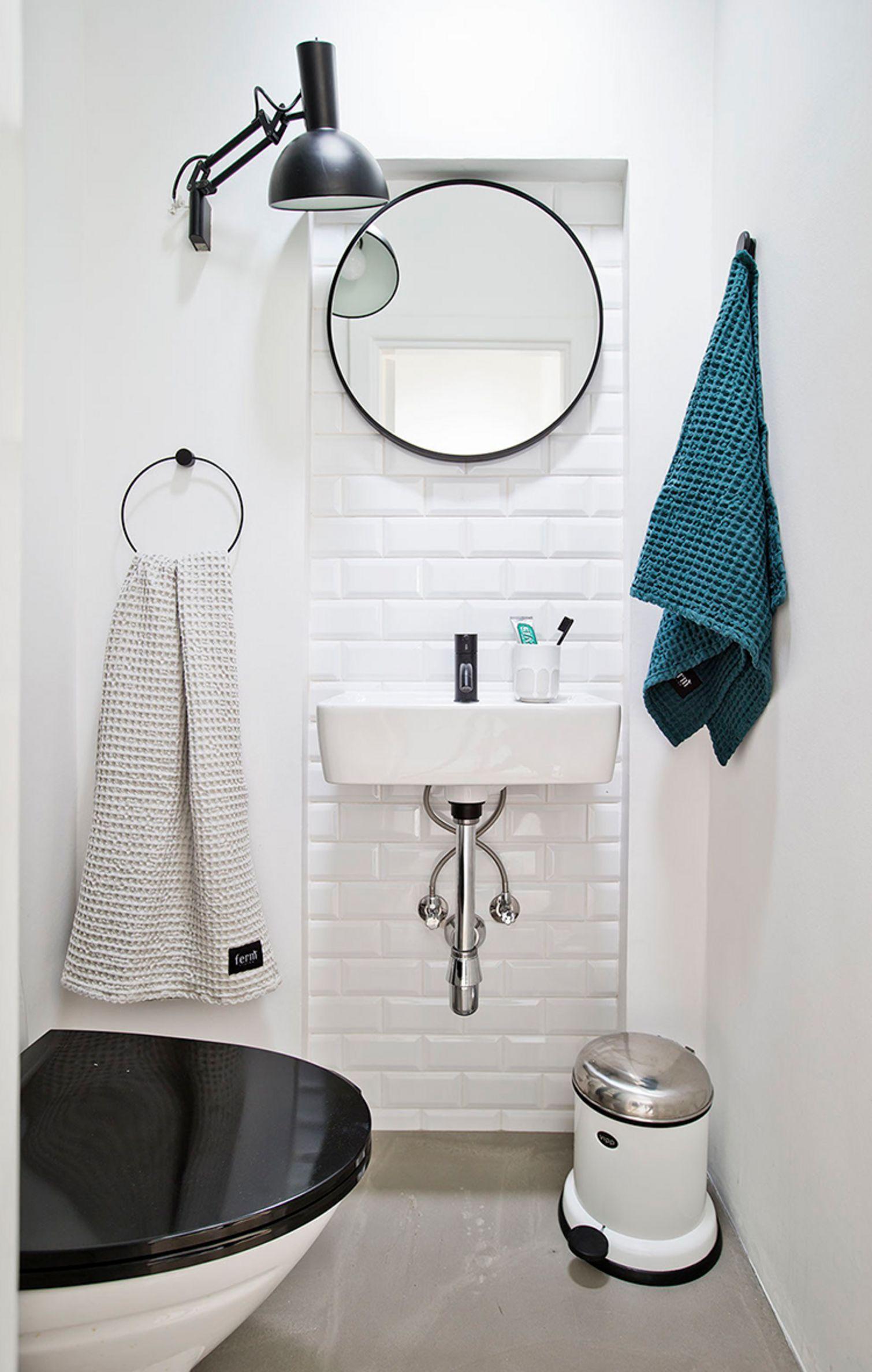 Indretning af et lille badeværelse