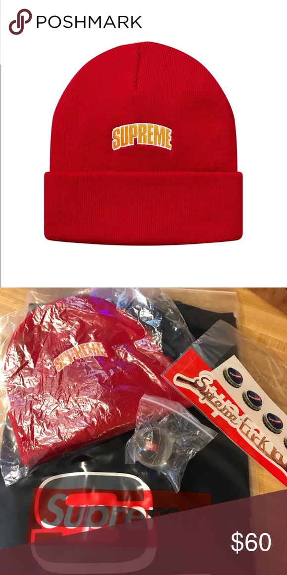 f3e07ebb0f4 Supreme crown red beanie. FW18. Brand new. Still in package. Supreme  Accessories Hats