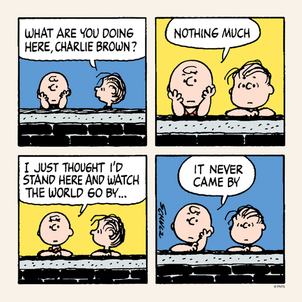 Tuesday with Charlie Brown and Linus