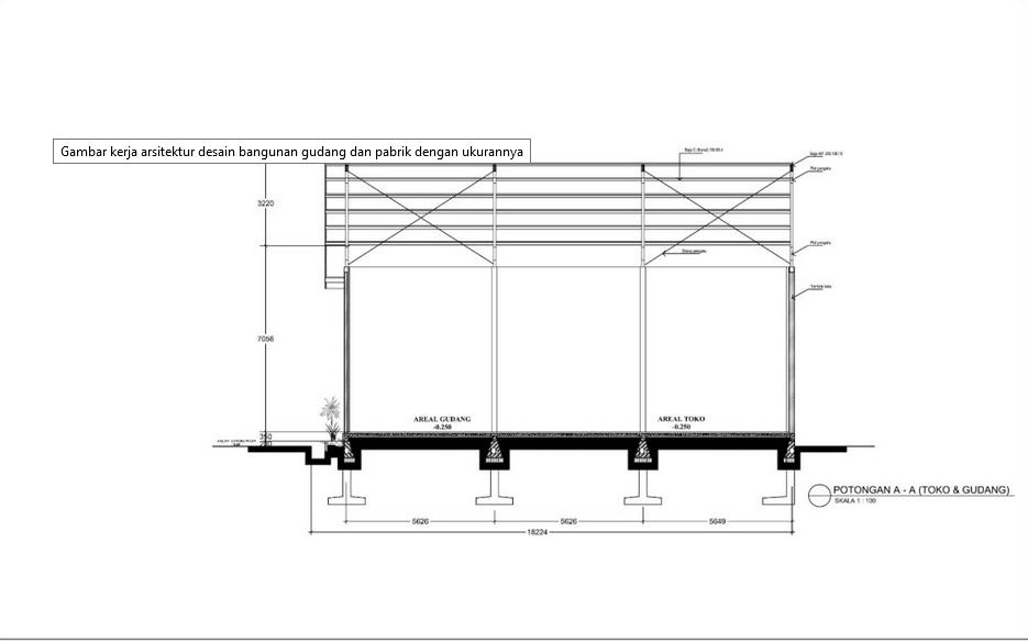 Desain Gudang Besi Dari Rangka Baja Desain Arsitektur Gudang
