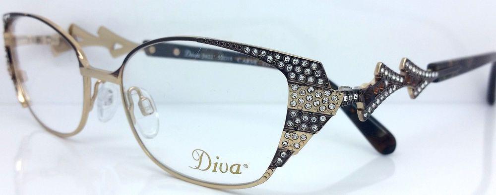 b9b7f49c76 DIVA EYEGLASSES 5422 C.AR5E 52MM Swarovski crystals. Made in Italy  DIVA