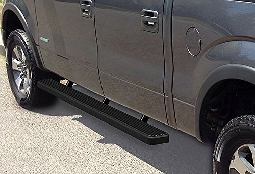 "iBoard Running Boards 4/"" Matte Black Fit 09-14 Ford F150 Super Cab"