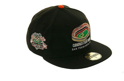 New Era 5950 San Francisco Giants Candlestick Park Fitted Hat Black Fitted Hats San Francisco Giants New Era