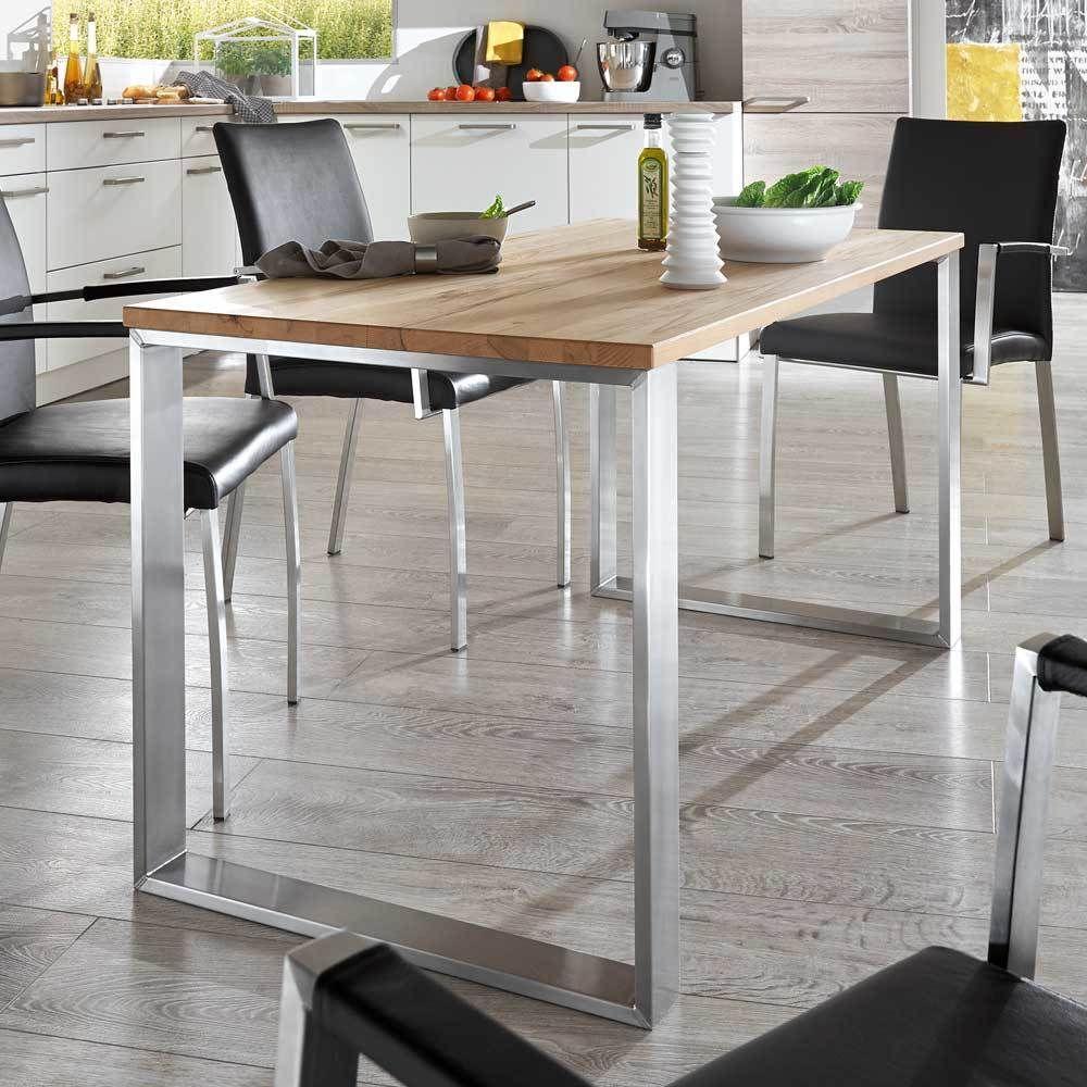 esszimmertisch aus kernbuche massivholz metall jetzt bestellen unter. Black Bedroom Furniture Sets. Home Design Ideas