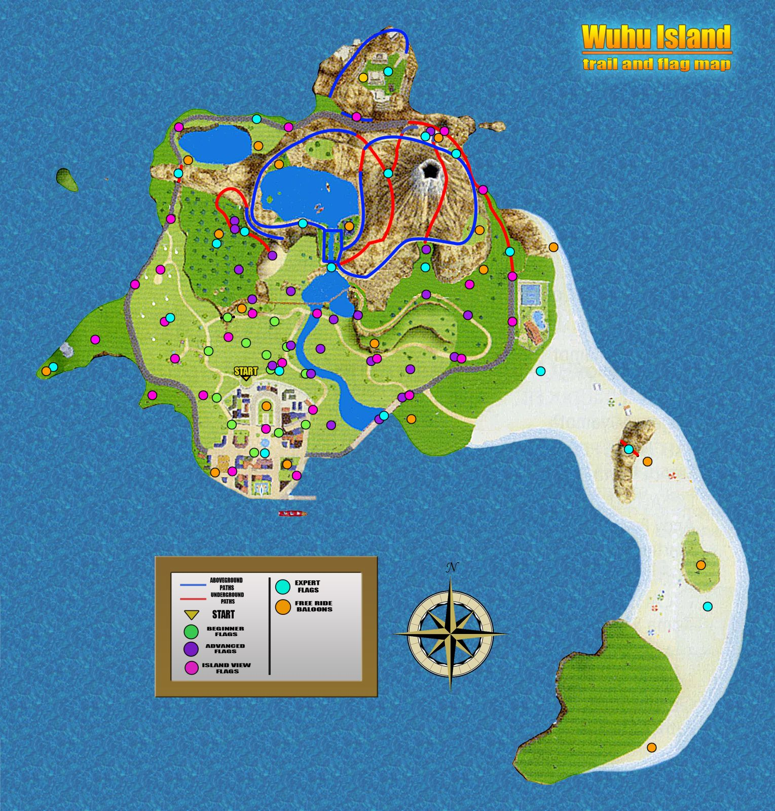 The map of Wuhu island, for reference  | Video Games | Wii sports