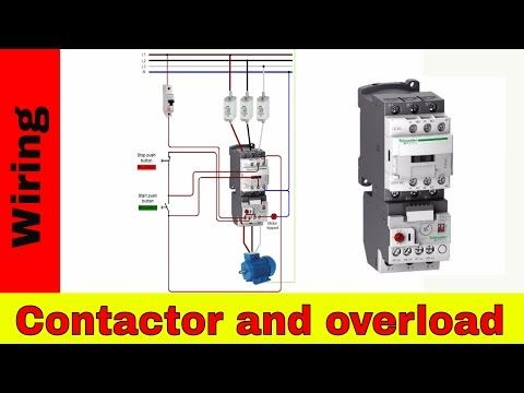 How to wire a contactor and overload  Direct Online Starter | Electrical wiring  video