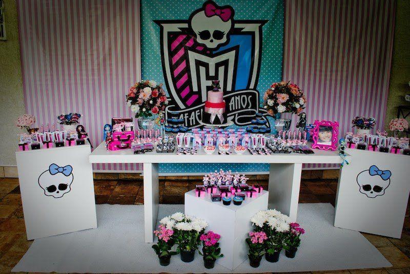 Festa Monster High, decoração