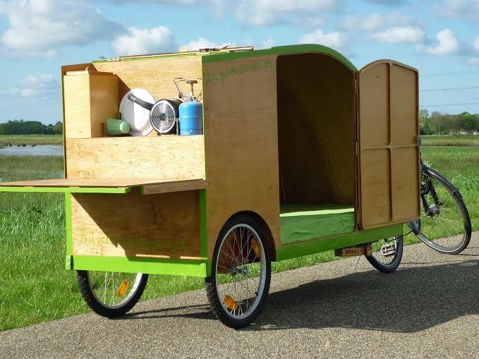 fahrradwohnwagen bicycle caravan wohn fahrrad. Black Bedroom Furniture Sets. Home Design Ideas