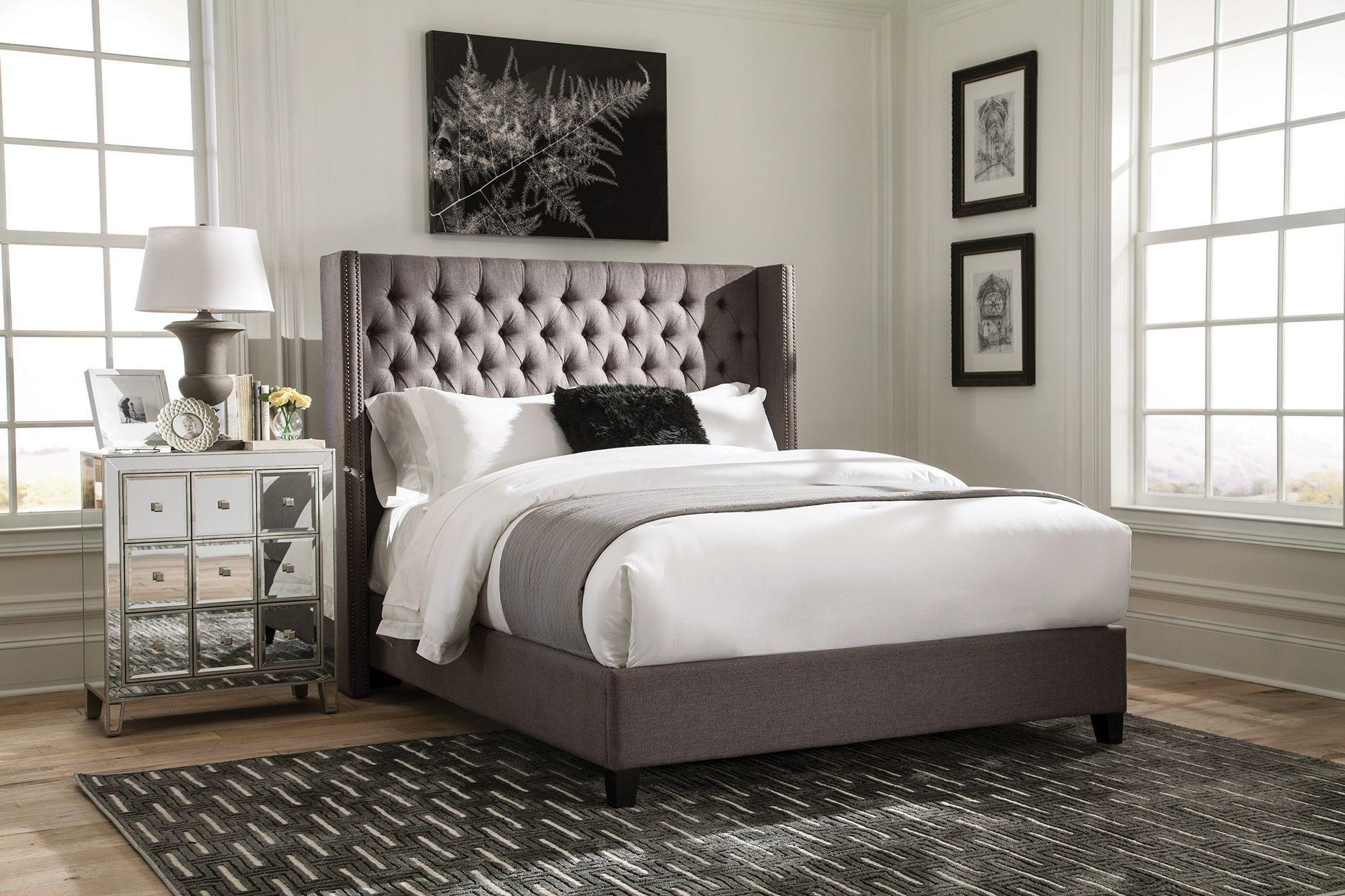 Benicia upholstered bed by scott living