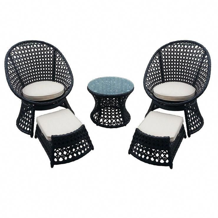 patio chair with ottoman canada extra large tub chairs vienna 5 piece wicker and set chairandottomanset