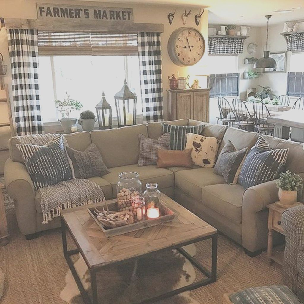 33 Top Rustic Farmhouse Living Room Lighting Ideas In