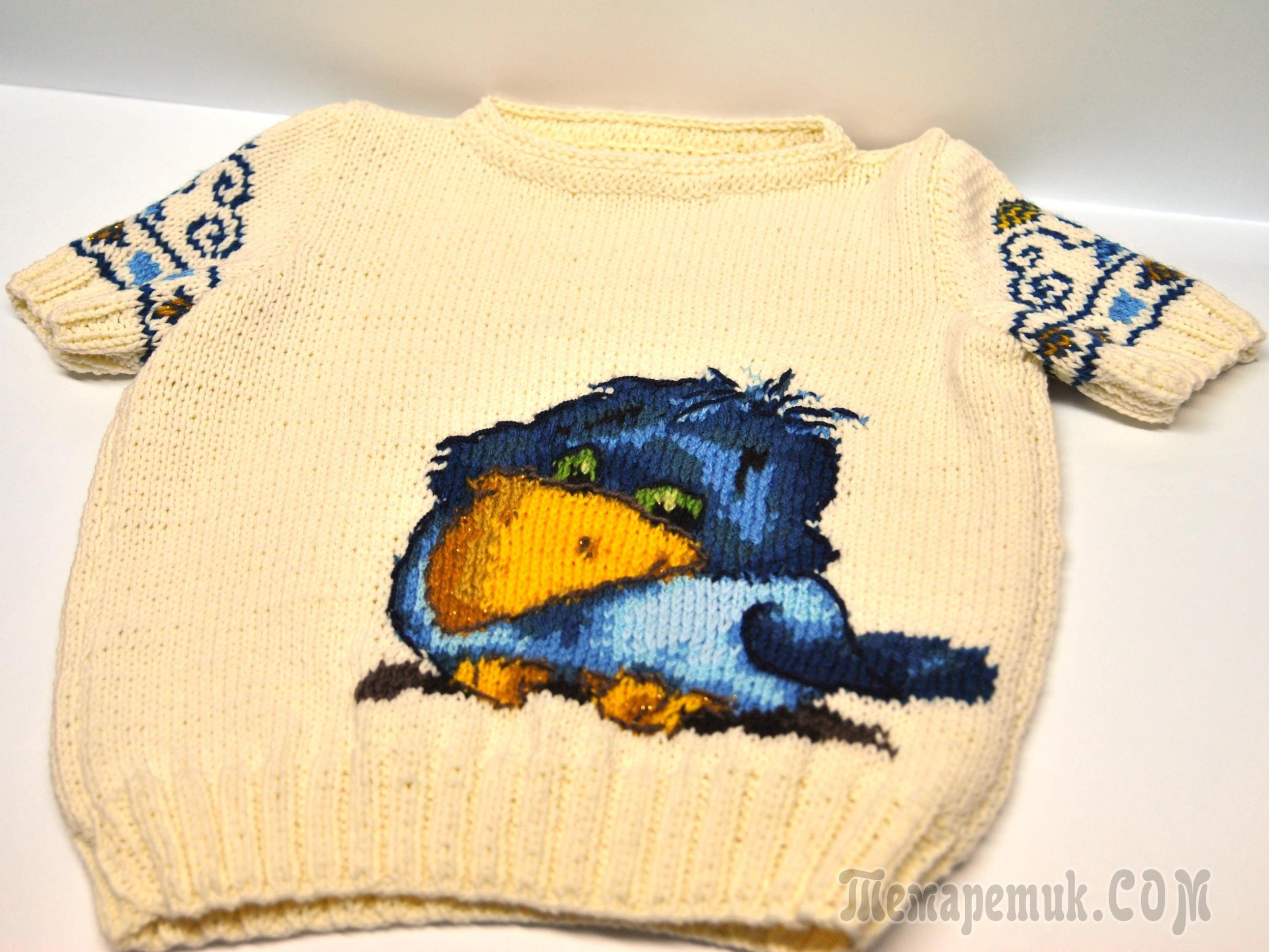 Техника вышивки по вязанию